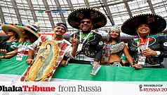 Luzhniki turns green before Germany-Mexico...