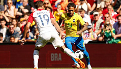 Neymar shines on Brazil return, Spain...