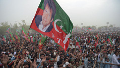 Imran Khan supporters celebrate as Pakistan...