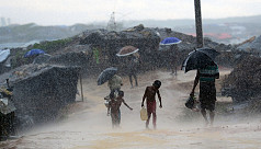 First monsoon rains pound Rohingya...