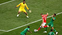 Russia pummel Saudis 5-0 in World Cup...