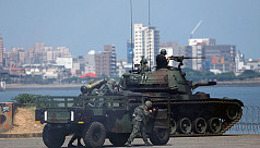 Taiwan holds large-scale military drills...