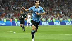 Cavani out, Stuani in for Uruguay against...