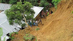 Panic grips locals as landslide hits...