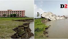 Watch: Jamuna River tears down Manikganj...