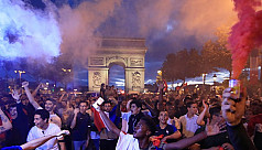 Paris celebrates France's march to the...