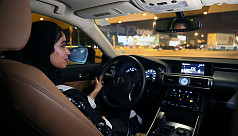 Saudi woman's car set ablaze after driving...