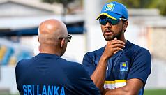 Sri Lanka captain Chandimal and coach...