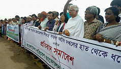 Bapa protests against illegal land grabbing...