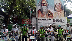 Indian cyclists rally in