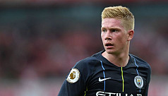 De Bruyne out for a month after hamstring injury