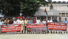 Protest against attacks on journalists...