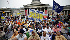 Hundreds of Sikh separatists rally in...