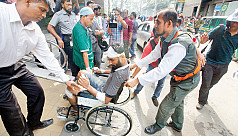 AP photojournalist AM Ahad beaten...