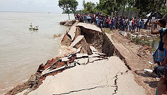 Buildings, roads crumble into Padma...
