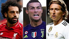 Ronaldo, Modric and Salah up for Uefa...