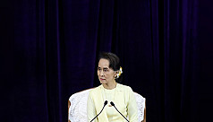Suu Kyi calls for peace in speech which...