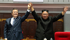 Two Koreas leaders in mountain show...