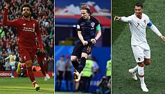 Ronaldo, Modric and Salah on Fifa player...