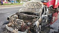 US-Bangla plane crash victim's car gutted...