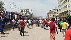 RMG workers block Dhaka-Mymensingh highway...