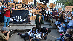 Myanmar youth, journalists demonstrate...