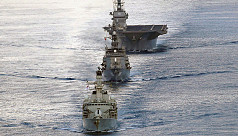 Japanese carrier drills with British...