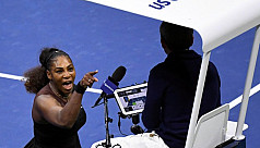 WTA chief backs Serena as row grows...