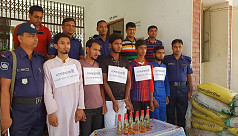 5 Shibir members detained with petrol...