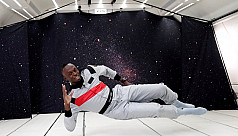 Bolt toasts zero-gravity with...
