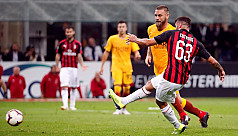AC Milan win over Roma at San Siro