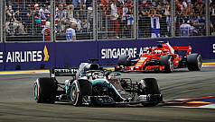 Hamilton opens 40-point lead with Singapore...