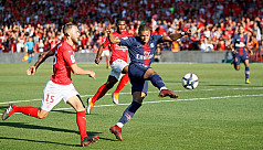 Mbappe scores stunner but sees red in...