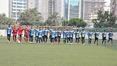 Bangladesh U-15 boys leave for Nepal...