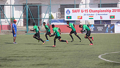U-15 boys face India in Saff semi...