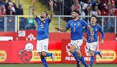 Biraghi saves Italy, gives Mancini first competitive win