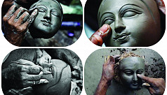 Behind the scenes of Durga Puja