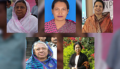 Female politicians campaign for election...