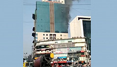 Fire at Silver Tower in Gulshan
