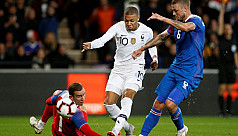 Mbappe saves French blushes in 2-2 draw...