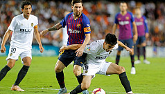 Barcelona held at Valencia as Sevilla...