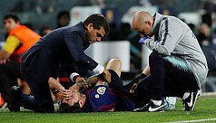Barca victory tarnished as injured Messi...