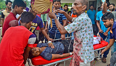 Six hurt in  gas cylinder