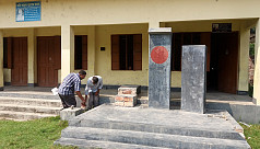 Shaheed Minar vandalized in Pabna...