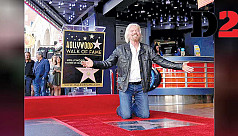 Richard Branson recalls rock 'n roll days as gets Hollywood star