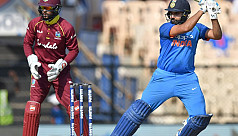Rohit ton helps India steamroll West...