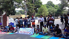 Protest against quota scrapping continues...