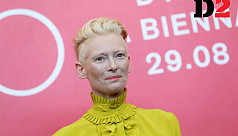 Tilda Swinton directed her dogs in a...