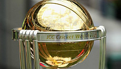 ICC Cricket World Cup trophy arrives...