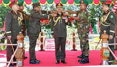 Army chief adorned colonel of the regiment...